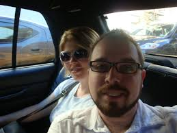 Jeremy and Lori in taxi